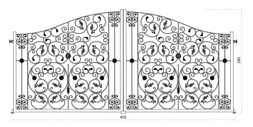 Garden gate aphrodite wrought iron garden gate wrought iron catalogue wrought iron metal for Dessin en fer forge