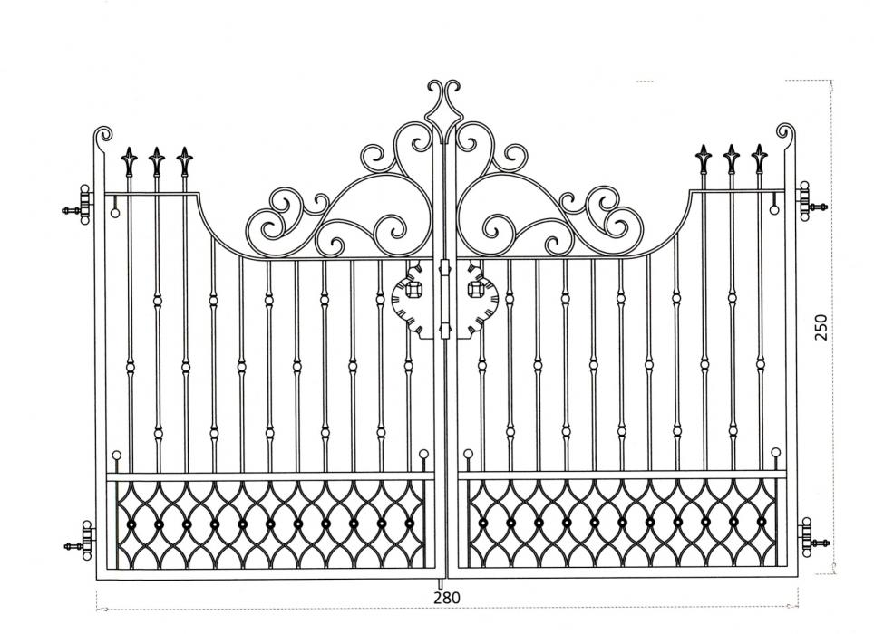 Garden gate bosphorus wrought iron garden gate for Dessin portail fer forge