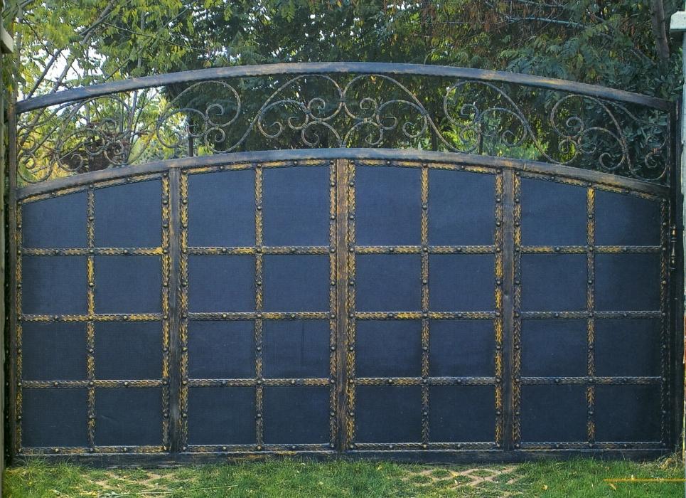 Garden gate h raclite wrought iron garden gate for Petit portail en fer
