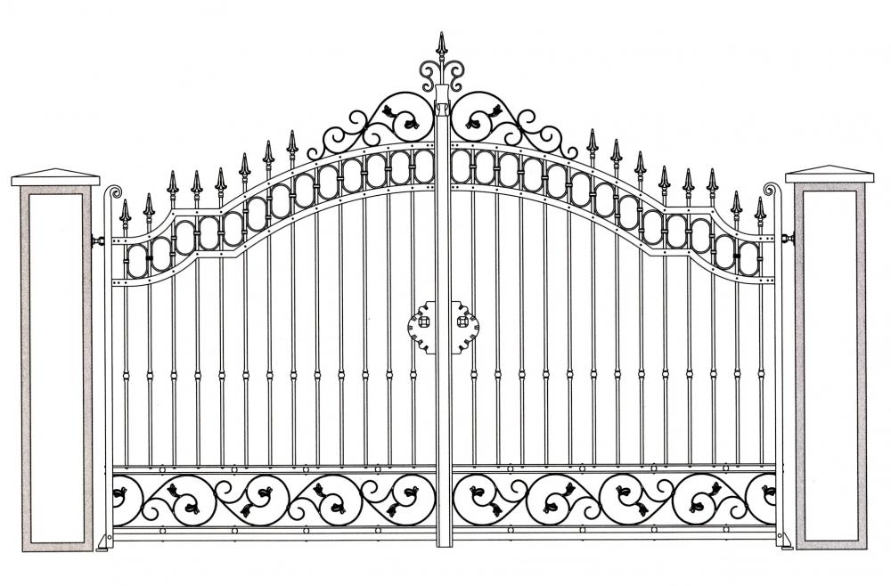 Garden gate val de loire wrought iron garden gate wrought iron catalogue wrought iron for Dessin en fer forge