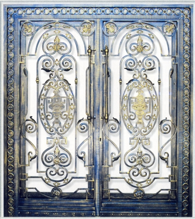Iron gate Viroflay - Wrought Iron / Gate, door - Wrought Iron ...