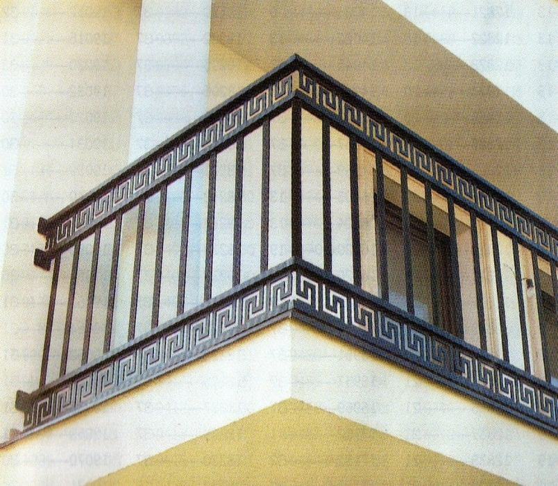 Wrought iron and sheet cut metal fence crete wrought for Fer forge balcon